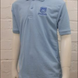 Polo Shirt Sky Blue Embroidered