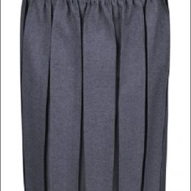 Deansbrook Box Pleated Skirt in Grey