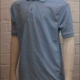 Polo Shirt Sky Blue Non Embroidered