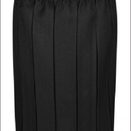 Deansbrook Box Pleated Skirt in Black